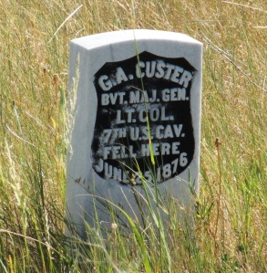 Custer headstone Little Bighorn